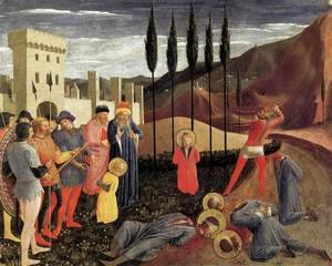 Giotto Di Bondone - Beheading of Saint Cosmas and Saint Damian
