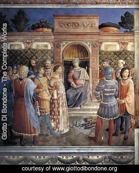 Giotto Di Bondone - Condemnation of St Lawrence by the Emperor Valerian