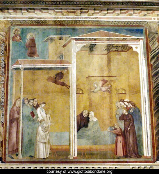 Confession of the woman come back to life,Basilica of Saint Francis,Assisi