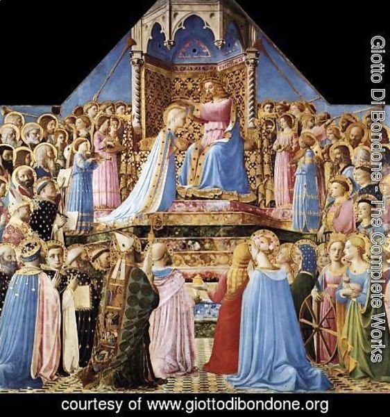 Giotto Di Bondone - Coronation of the Virgin 2