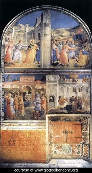 Giotto Di Bondone - East wall of the chapel