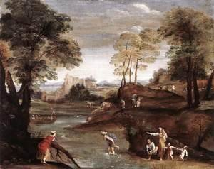 Giotto Di Bondone - Landscape with Ford