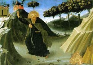 Giotto Di Bondone - Saint Anthony the Abbot Tempted by a Lump of Gold