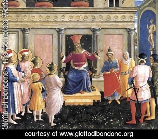 Giotto Di Bondone - Saint Cosmas and Saint Damian before Lisius