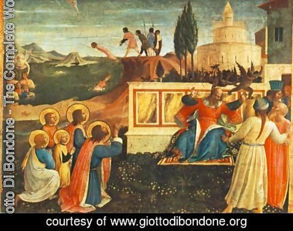 Giotto Di Bondone - Saint Cosmas and Saint Damian Salvaged