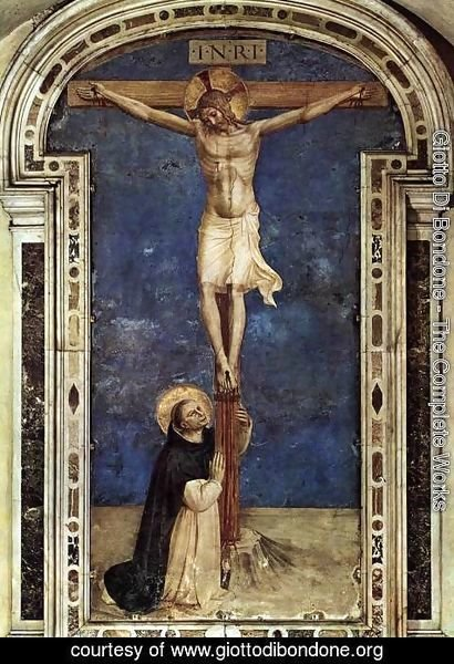 Giotto Di Bondone - Saint Dominic Adoring the Crucifixion