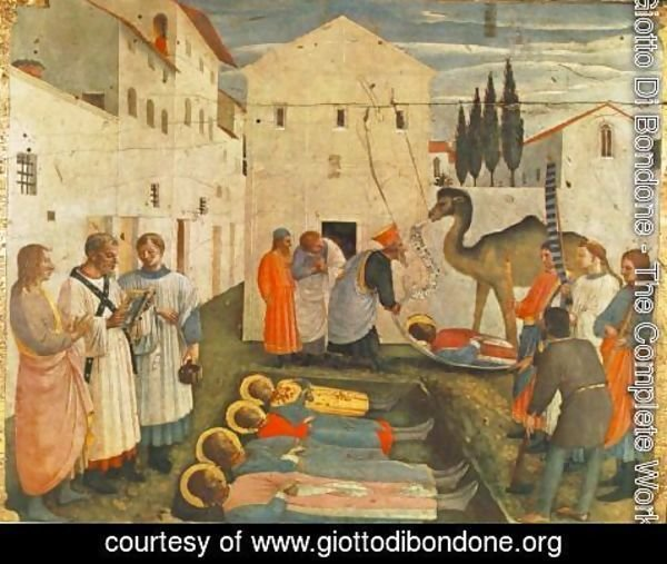 Giotto Di Bondone - Sepulchring of Saint Cosmas and Saint Damian