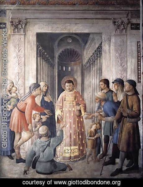 Giotto Di Bondone - St Lawrence Distributing Alms