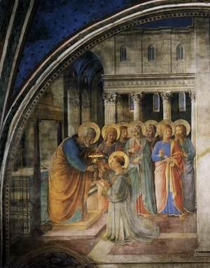 Giotto Di Bondone - St Peter Consacrates Stephen as Deacon