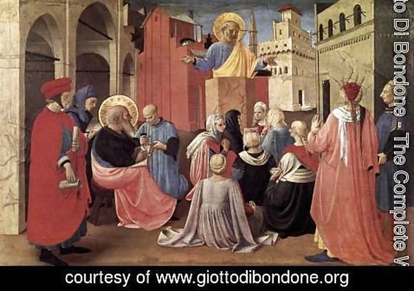 Giotto Di Bondone - St Peter Preaching in the Presence of St Mark