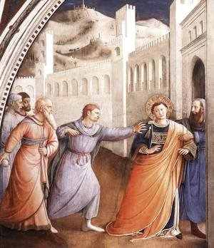 Giotto Di Bondone - St Stephen Being Led to his Martyrdom
