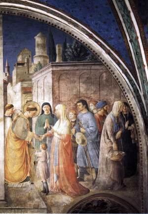 Giotto Di Bondone - St Stephen Distributing Alms