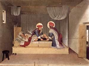Giotto Di Bondone - The Healing of Justinian by Saint Cosmas and Saint Damian