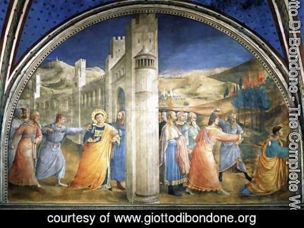 Giotto Di Bondone - The Stoning of St Stephen
