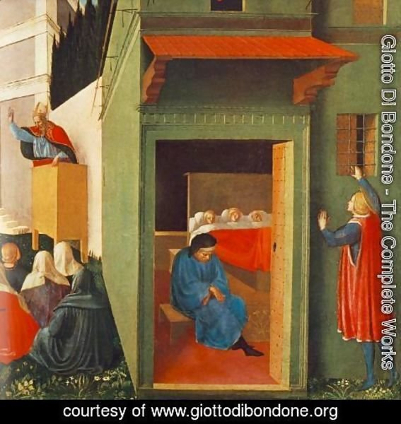 Giotto Di Bondone - The Story of St Nicholas, Giving Dowry to Three Poor Girls