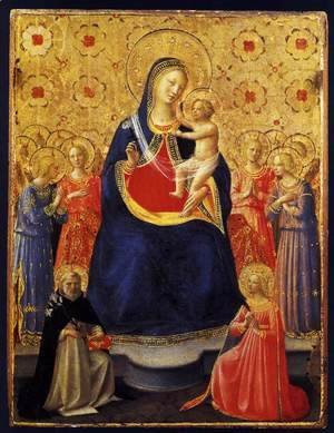 Giotto Di Bondone - Virgin and Child with Sts Dominic and Catherine of Alexandria