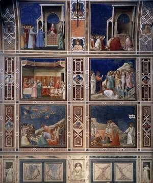 Giotto Di Bondone - Scenes with decorative bands