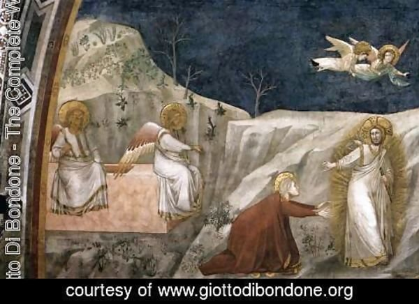 Giotto Di Bondone - Scenes from the Life of Mary Magdalene Noli me tangere