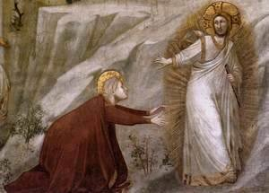 Giotto Di Bondone - Scenes from the Life of Mary Magdalene Noli me tangere (detail)
