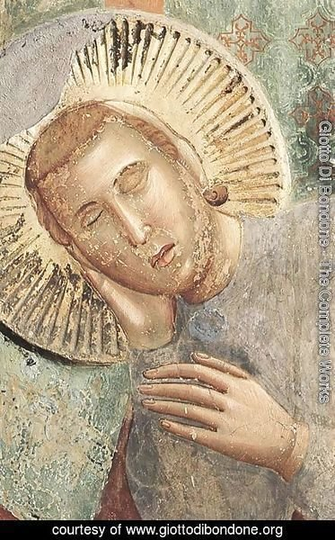 Giotto Di Bondone - Legend of St Francis 3. Dream of the Palace (detail)