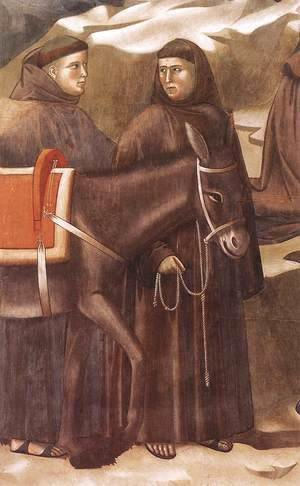 Giotto Di Bondone - Legend of St Francis 14. Miracle of the Spring (detail)