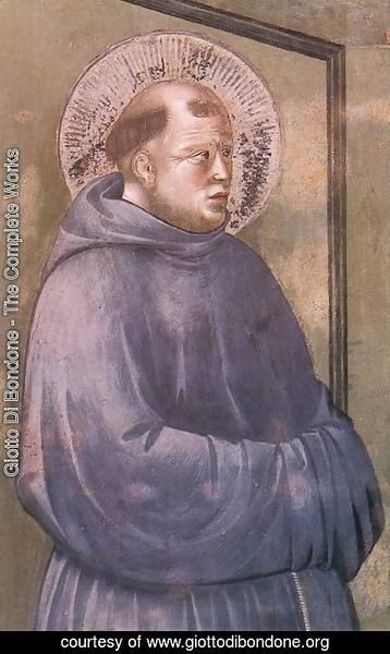 Giotto Di Bondone - Legend of St Francis 18. Apparition at Arles (detail)