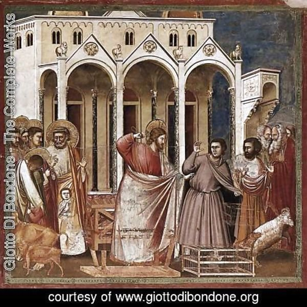 Giotto Di Bondone - No. 27 Scenes from the Life of Christ 11. Expulsion of the Money-changers from