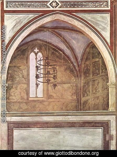 Giotto Di Bondone - View of a chapel