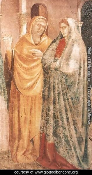 Giotto Di Bondone - Scenes from the Life of St John the Baptist 1. Annunciation to Zacharias (detai