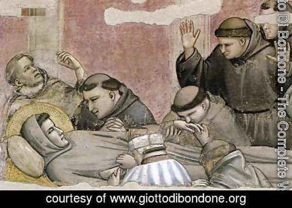 Giotto Di Bondone - Scenes from the Life of Saint Francis 4. Death and Ascension of St Francis (det