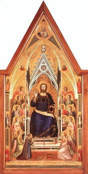 Giotto Di Bondone - The Stefaneschi Triptych Christ Enthroned