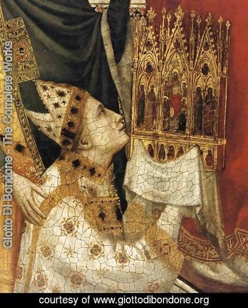 Giotto Di Bondone - The Stefaneschi Triptych St Peter Enthroned (detail)