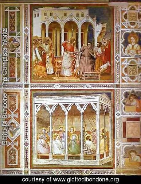 Giotto Di Bondone - Christ Purging The Temple And Pentecost 1304-1306
