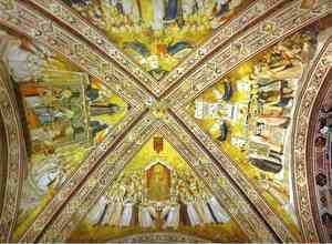 Giotto Di Bondone - Crossing Vault 1316-19