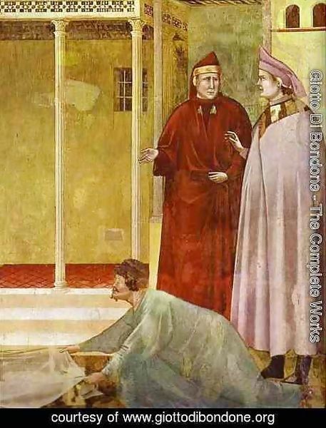Giotto Di Bondone - Homage Of A Simple Man Detail 2 1295-1300
