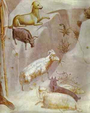 Giotto Di Bondone - Joachims Dream Detail 1304-1306