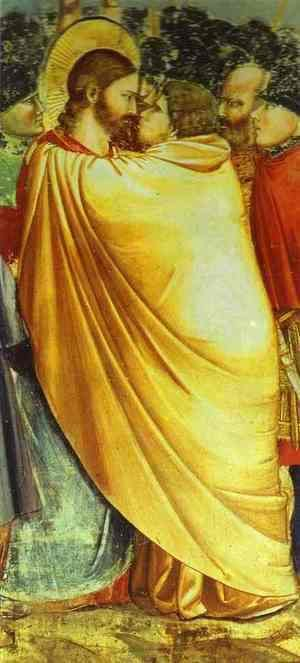 Giotto Di Bondone - Kiss Of Judas Detail 1304-1306