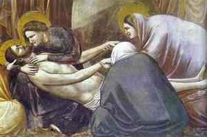 Giotto Di Bondone - Lamentation Detail 1304-1306