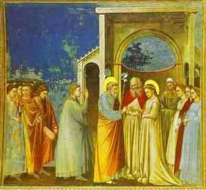 Giotto Di Bondone - Marriage Of The Virgin 1302-1305