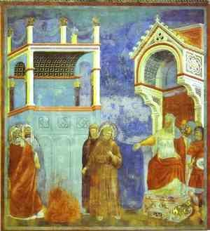 Giotto Di Bondone - St Francis Before Sultan 1300