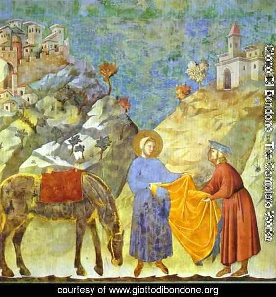 St Francis Giving His Cloak To A Poor Man 1295-1300