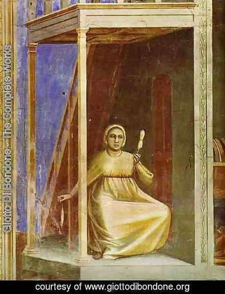 Giotto Di Bondone - The Angel Appearing To St Anne Detail 1304-1306