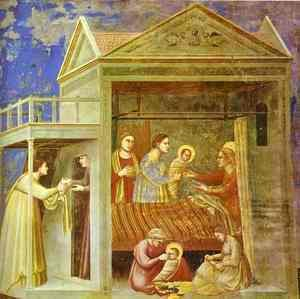 Giotto Di Bondone - The Birth Of Mary 1304-1306