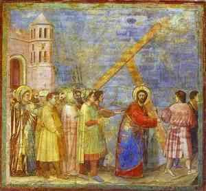 Giotto Di Bondone - The Carrying Of The Cross 1304-1306
