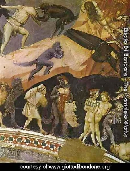 Giotto Di Bondone - The Last Judgement Detail 3 1304-1306