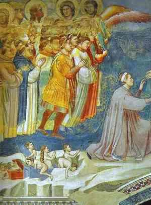 Giotto Di Bondone - The Last Judgement Detail 5 1304-1306