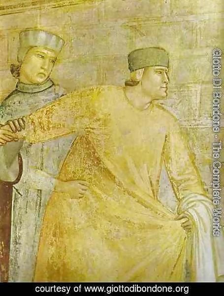 Giotto Di Bondone - The Renunciation Of Worldly Goods Detail 1 1320s
