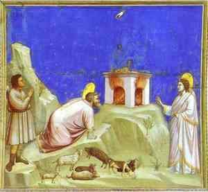 Giotto Di Bondone - The Sacrifice Of Joachim 1302-1305