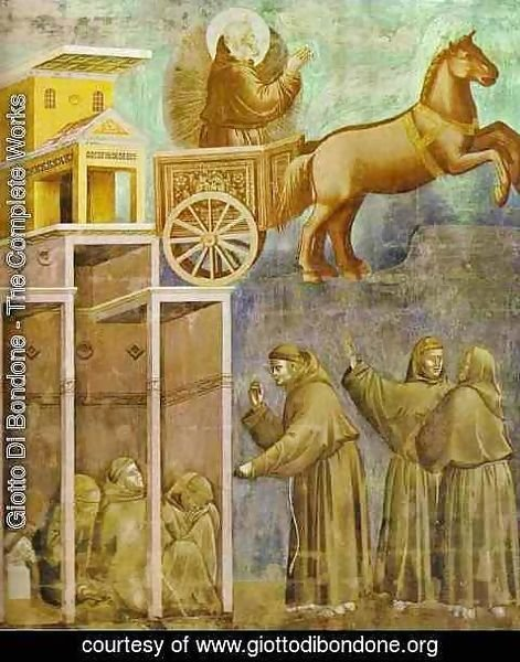 Giotto Di Bondone - The Vision Of The Chariot Of Fire 1295-1300