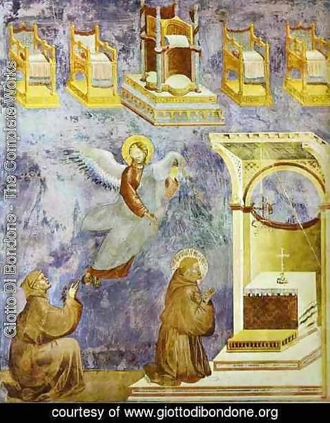 Giotto Di Bondone - The Vision Of The Thrones 1295-1300